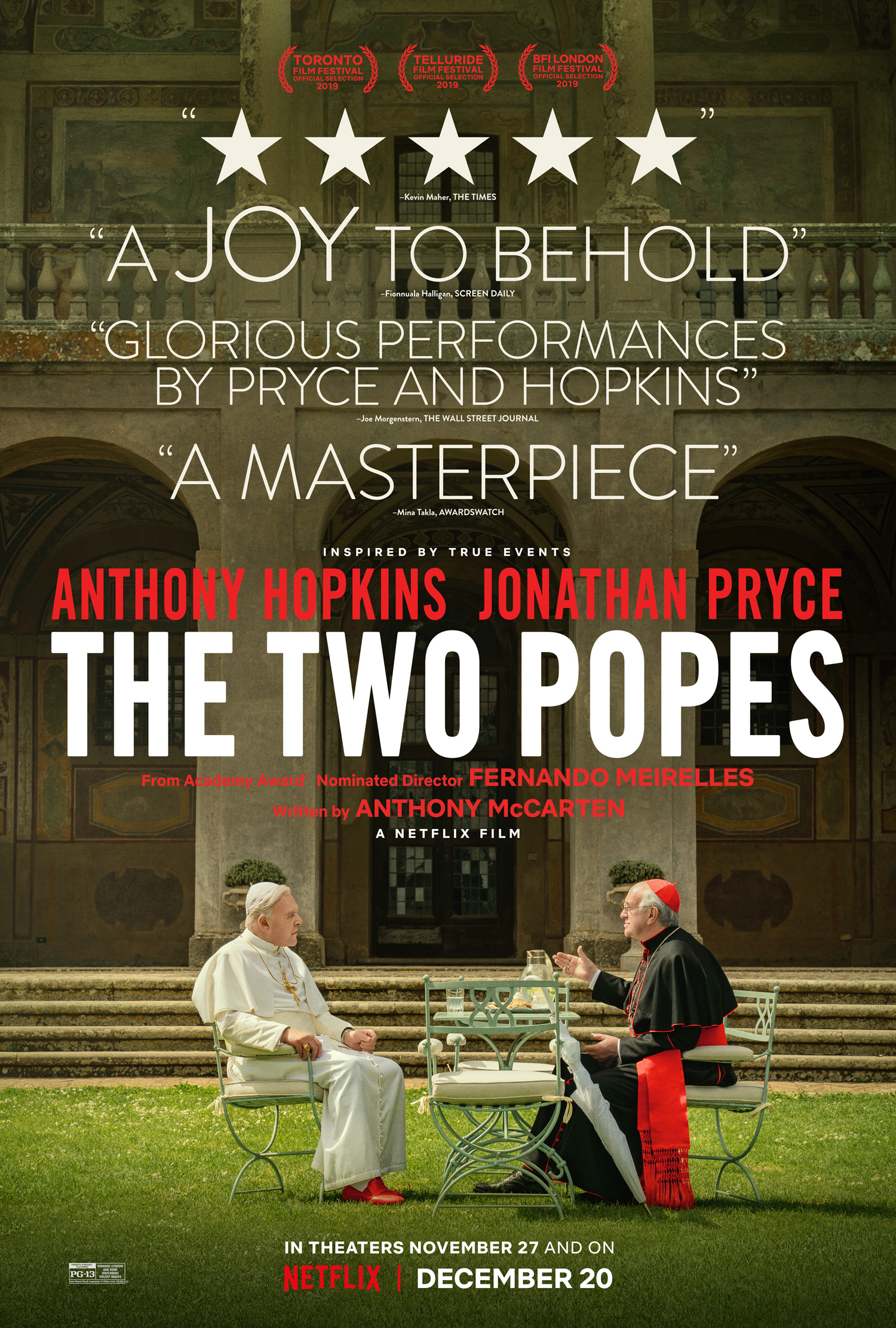 Image result for the two popes poster